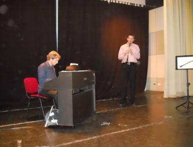 30.05.2012. u 13.00 sati DUO SFORZATO se predstavio koncertom za klarinet, klavir.