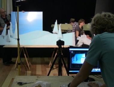 Rad na lutka-filmu Zimska priča, 2012.
